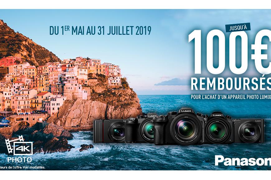 Panasonic-Cashback été 100€ remboursé sur achat appareil LUMIX