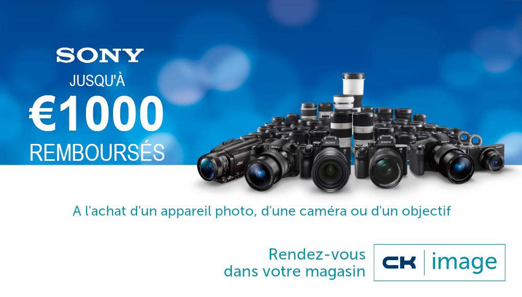 Sony - cashback - Jusqu'à 1000€ remboursés