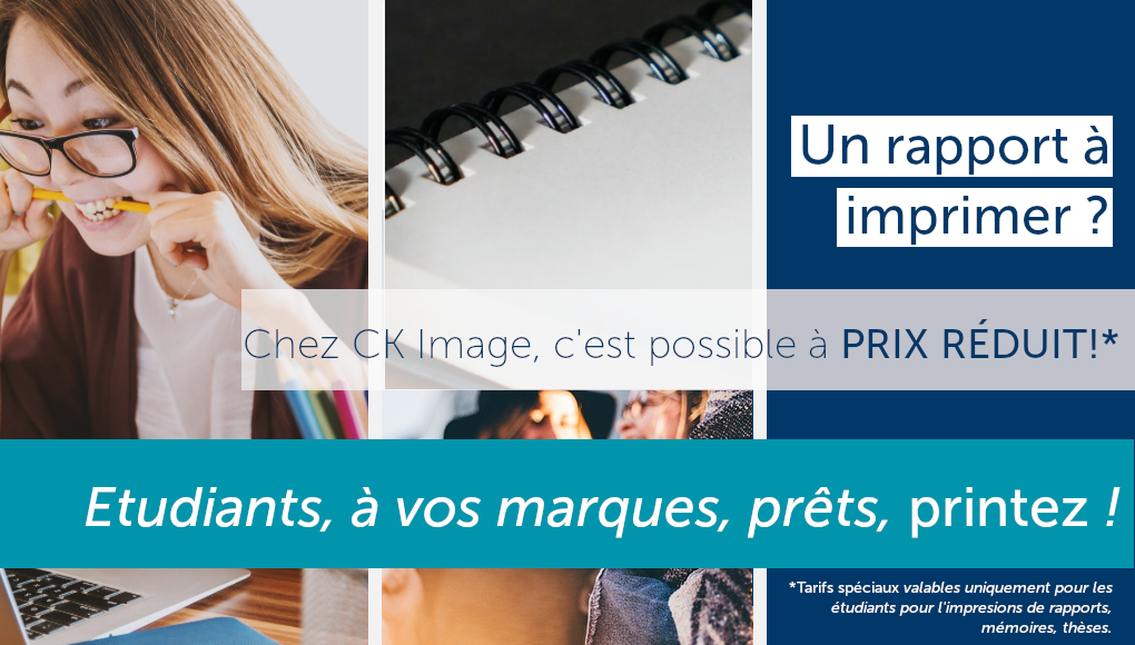 offre spéciale étudiants - Impression rapports