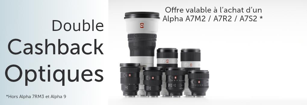 Offre Sony - Alpha Optique - à l'achat de A7M2 / A7R2 / A7S2