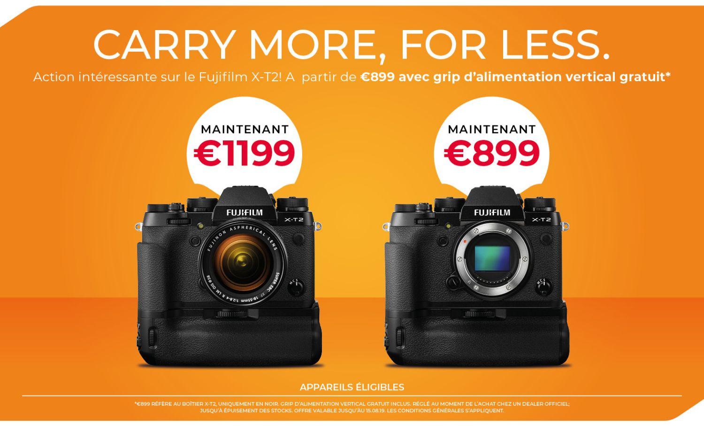 Offre spéciale Fujifilm XT-2